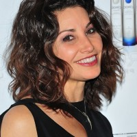 Gina Gershon Cute Layered Shoulder Length Wavy Bob Haircut for Fall