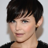 Ginnifer Goodwin Cute Short Dark Straight Haircut with Bangs for Fall
