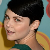 Ginnifer Goodwin Short Straight Black Retro Pixie Cut