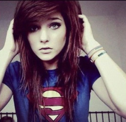 2015 Red Long Emo Hairstyle For Girls With Thick Bangs Pictures to pin ...