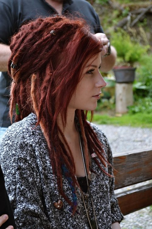 Girls REd Dreadlocks