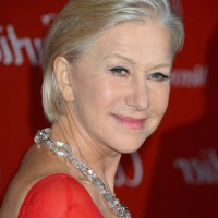 Helen Mirren Short Straight Hairstyle for Women Over 60