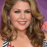Hillary Scott Feminine Medium Curly Hairstyle