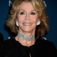 Jane Fonda Short Wavy Hairstyle for Women Over 70