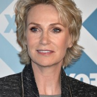 Jane Lynch Layered Razor Haircut for Women Over 50