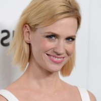 January Jones Short Blonde Straight Haircut for Summer
