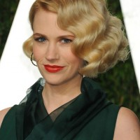 January Jones Short Retro Wavy Hairstyle for Women
