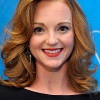 Jayma Mays Shoulder Length Hairstyle with Big Curls for Work