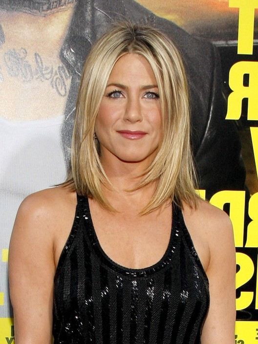 Jennifer Aniston Shoulder Length Straight Bob Haircut Styles Weekly