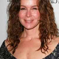 Jennifer Grey Tousled Curly Haircut for Medium Length Hair