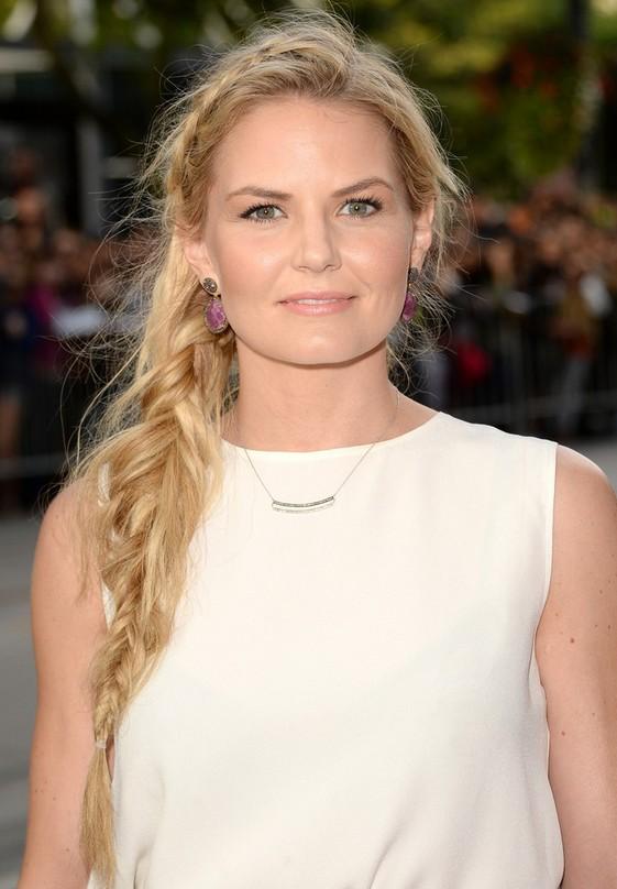 Jennifer morrison cute long blonde side braid for summer for Jennifer morrison tattoo