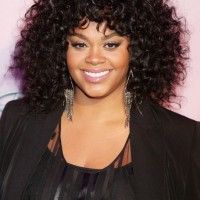 Jill Scott Black Curly Hairstyle for Medium Length Hair