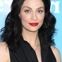 Joanne Kelly Medium Feminine Black Curly Hairstyle