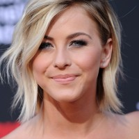 Julianne Hough Cool Short Layered Razor Hairstyle with Bangs
