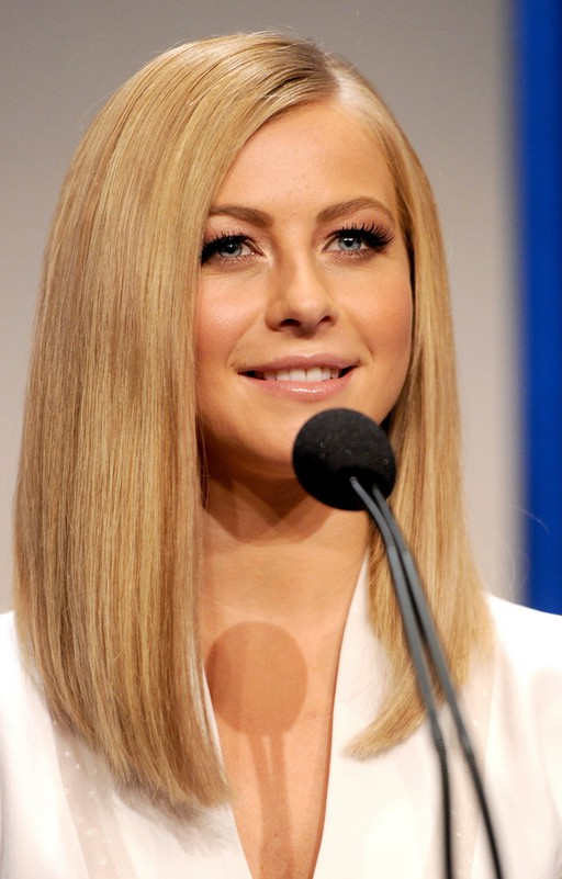 Julianne Hough Lob Hairstyle Long Straight Bob Hairstyle
