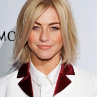 Julianne Hough Hairstyles Textured Medium Straight Hairstyle