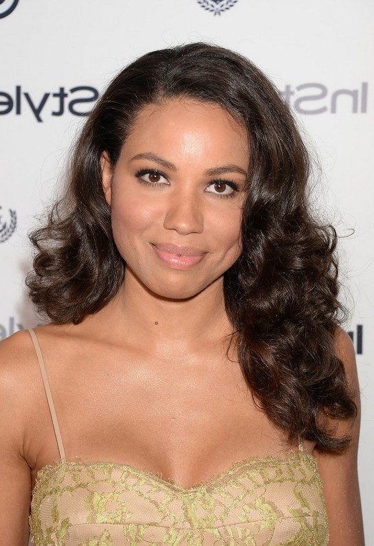 Jurnee Smollett-Bell Black Prom Curly Hairstyle for Long