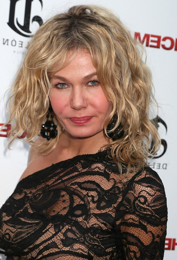 Katarzyna Wolejnio Chic Messy Blonde Curly Hairstyle For