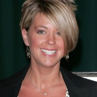 Kate Gosselin Layered Short Side Part Haircut with Long Bangs