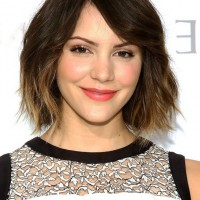 Katharine McPhee Short Ombre Hairstyle with Waves
