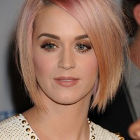 Katy Perry Layered Short Straight Pink Razor Cut
