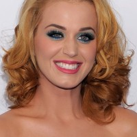 Katy Perry Medium Blonde to Brown Ombre Hair with Curls