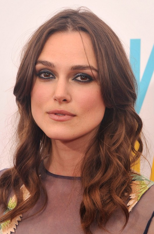 Keira Knightley Latest Long Wavy Hairstyle For Square