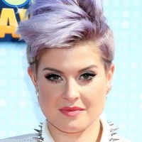 Kelly Osbourne Short Purple Fauxhawk Haircut for Women