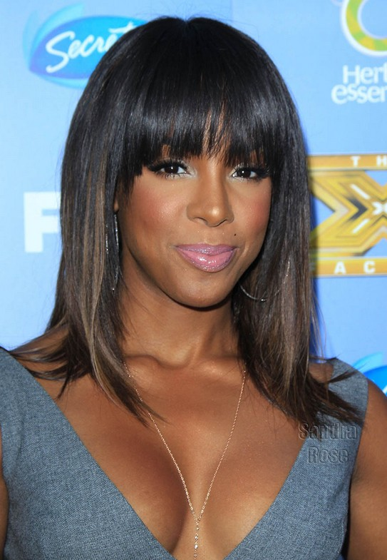 Kelly Rowland Straight Hairstyles