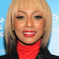 Keri Hilson Short Straight Haircut with Bangs for Oval Faces