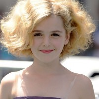 Kiernan Shipka Cute Medium Blonde Curly Hairstyle for Girls