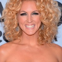 Kimberly Schlapman Medium Blonde Curly Hairstyle for Women