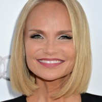 Kristin Chenoweth Short Straight Blonde Bob Cut for Summer