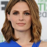 Latest Popular Medium Wavy Haircut from Stana Katic