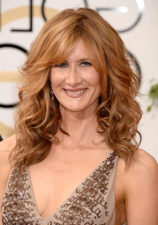 Laura Dern Medium Wavy Cut With Bangs For Women Over 40 Styles Weekly