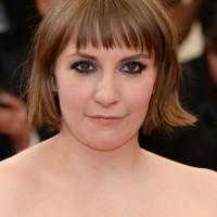Lena Dunham Short Haircut with Blunt Bangs