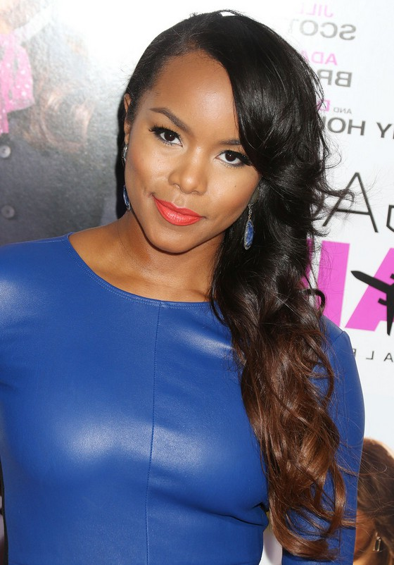 Letoya Luckett Layered Long Black To Brown Ombre Side