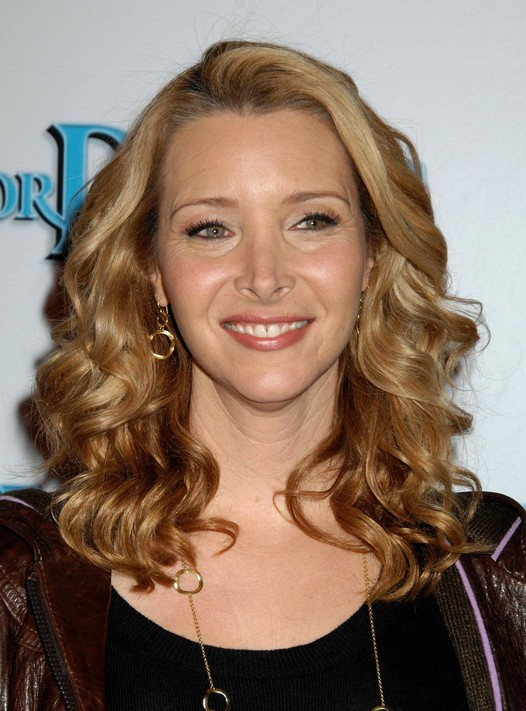 Lisa Kudrow Long Wavy Hairstyles
