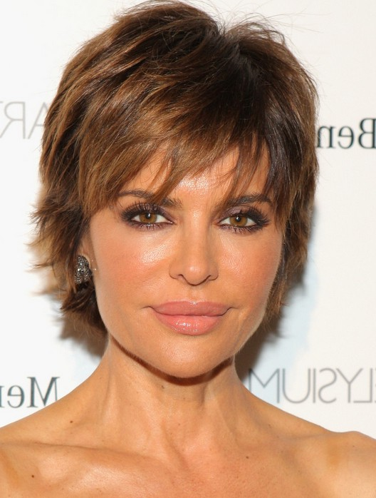 Best Layered Razor Cut Lisa Rinna Hairstyles Weekly