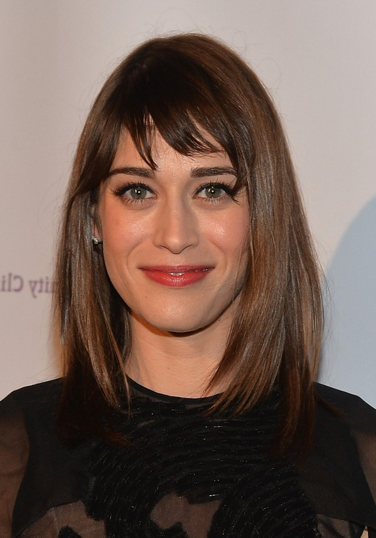 Lizzy Caplan Medium Straight Cut With Bangs Styles Weekly