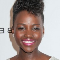 Lupita Nyong'o Short Curly Fauxhawk Haircut