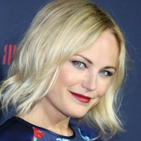 Malin Akerman Layered Blonde Razor Cut