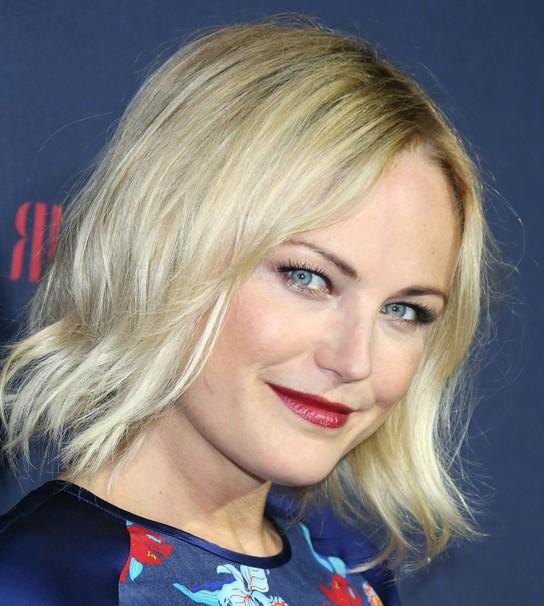 Malin Akerman Layered Blonde Razor Cut