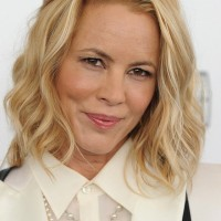 Maria Bello Edgy Chic Medium Wavy Haircut for Women