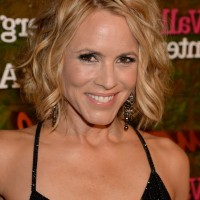 Maria Bello Short Wavy Hairstyle for Prom