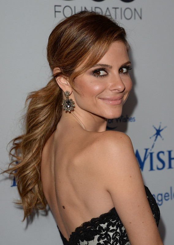 Maria Menounos Beautiful Low Ponytail For Prom Wedding Homecoming