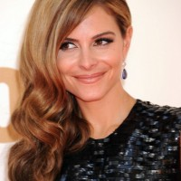 Maria Menounos Beautiful Ombre Wavy Hairstyle for Wedding