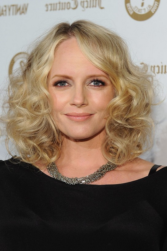Tremendous Marley Shelton Shoulder Length Curly Hairstyle For Round Faces Short Hairstyles For Black Women Fulllsitofus