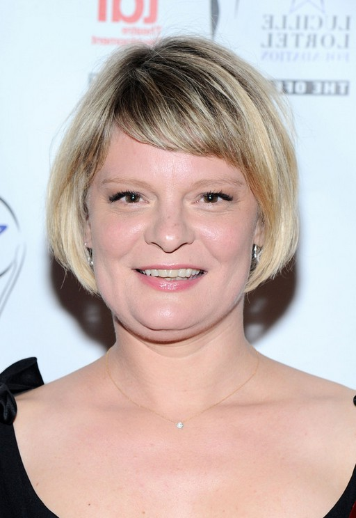 Awesome Martha Plimpton Short Bob Haircut With Side Swept Bangs For Women Hairstyles For Women Draintrainus