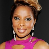 Mary J. Blige Edgy Short Fauxhawk Haircut for Black Women